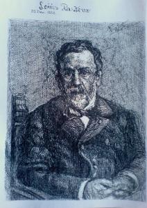 Schita - Protret Louis Pasteur (Violeta Lecca Balan)