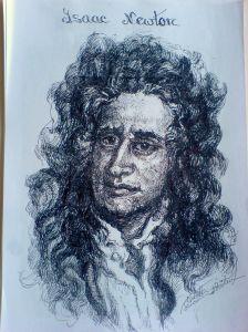 Schita - Protret Isaac Newton (Violeta Lecca Balan)