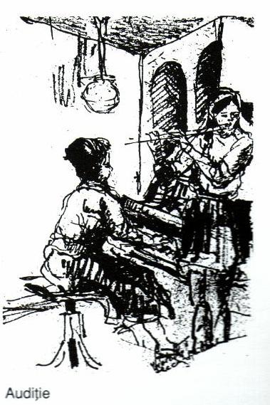 Auditie - Violeta Lecca Balan (tus, pe carton alb)