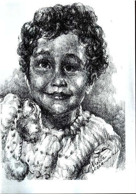 Candoare de copil - Violeta Lecca balan (tus negru, pe hartie)