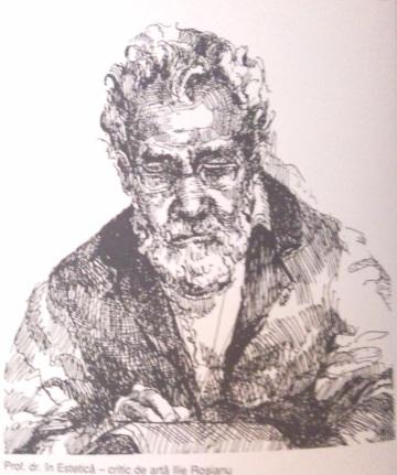 Criticul Ilie Rosianu - Violeta Lecca Balan (tus, pe carton alb)