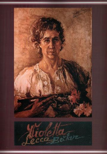 Autoportret – Violeta Lecca Balan (ulei, pe carton)
