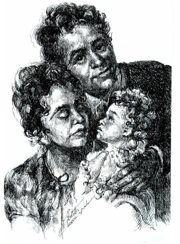 Impreuna - Violeta Lecca Balan (tus, pe carton alb)