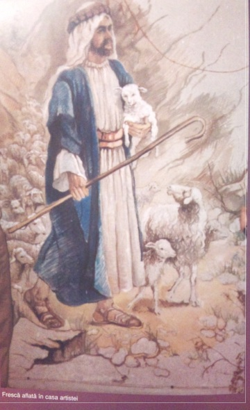 Isus - Violeta Lecca Balan (pastel, pe carton alb)