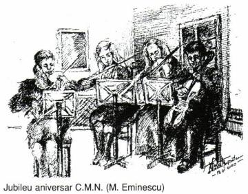 Jubileu aniversar CMN - Violeta Lecca Balan (tus, pe carton alb)