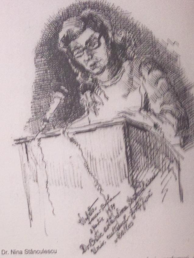 NIna Stanculescu  - Violeta Lecca Balan (tus, pe carton alb)