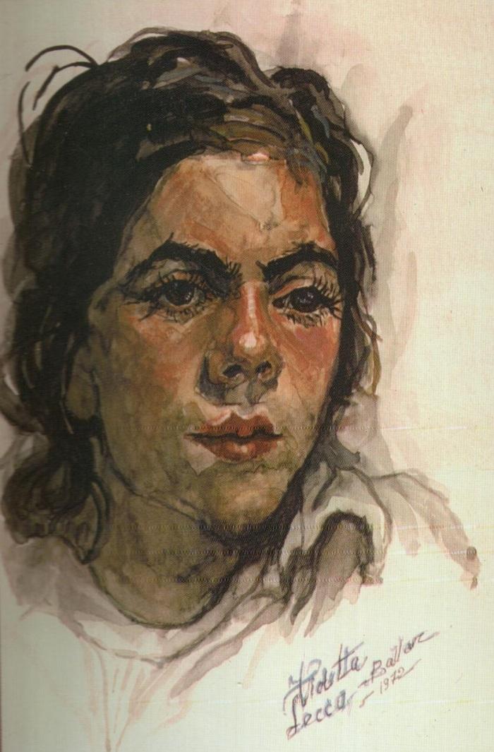 Adolescenta (acuarela) - Violeta Lecca Balan