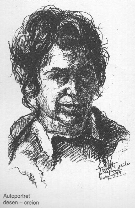 Autoportret (desen in creion)