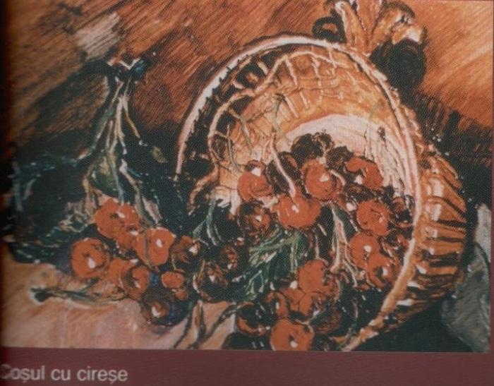 Cosul cu cirese  (ulei pe carton)