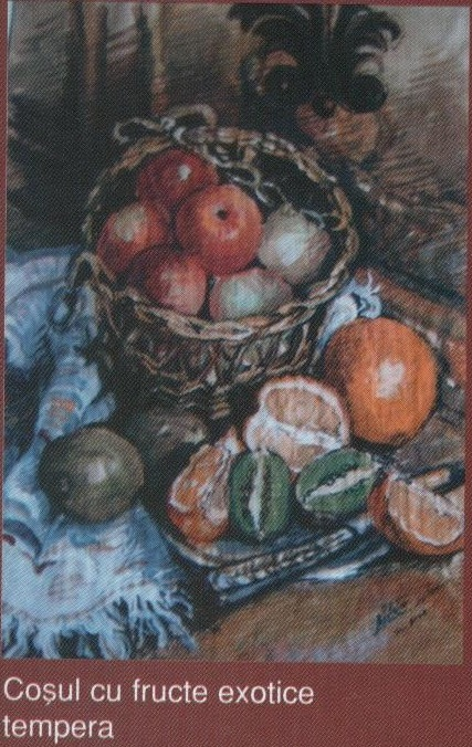 Cosul cu fructe exotice (tempera)