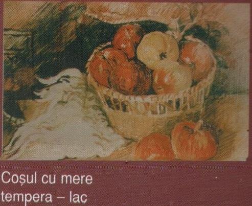 Cosul cu mere (tempera - lac)