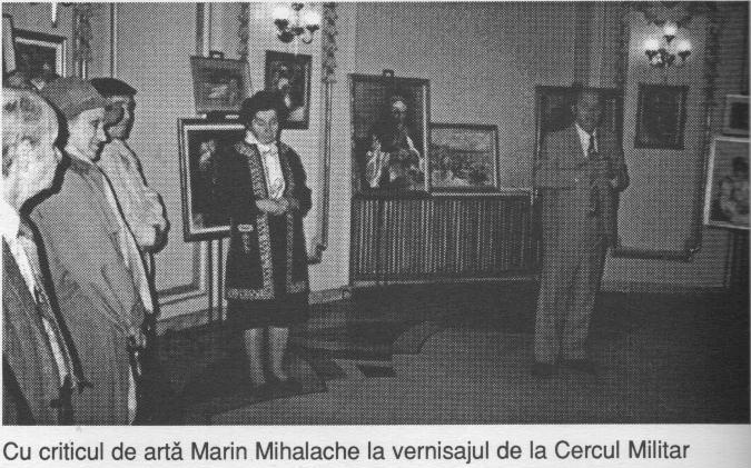 Cu criticul de arta Marin Mihalache la vernisajul de la Cercul Militar