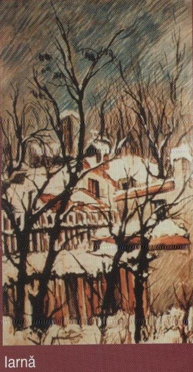 Iarna alba (ulei pe carton)