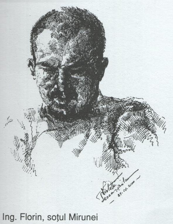 Ing Florin sotul Mirunei (schita creion pe gartie)