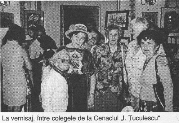La vernisaj intre colegele de la Cenaclul I.Tuculescu