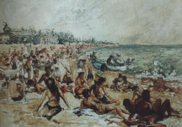 Plaja -Eforie Nord (acuarela)