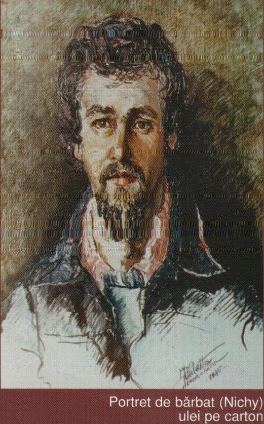 Portret de barbat (Nichy) - Ulei pe carton
