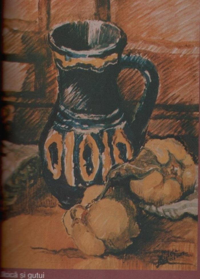 Ulcica si gutui (ulei pe carton)