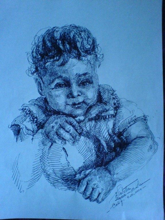 Bebe   (Violeta Lecca Balan, schita tus negru)