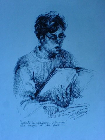 Cautare (Violeta Lecca Balan, schita creion)