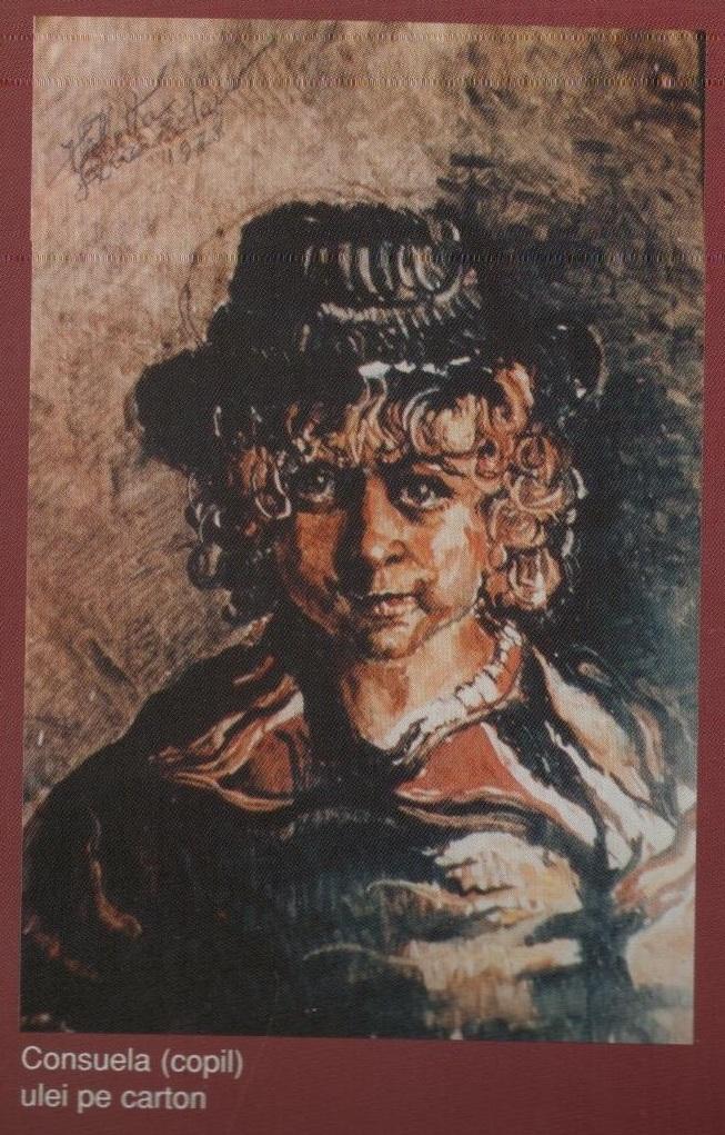 Consuela copil (ulei pe carton)