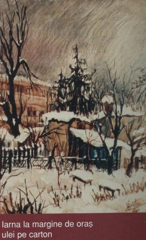 Iarna la margine de oras (ulei pe carton)