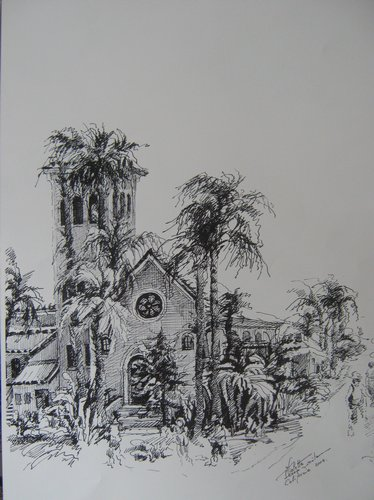 Biserica in California, grafica