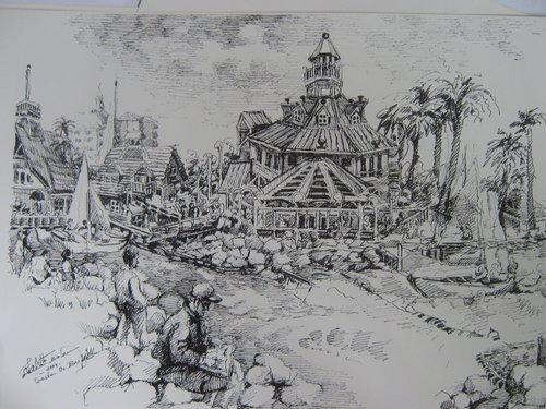 Coasta Pacificului, grafica,Violeta, Lecca, Balan, artista