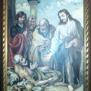 Reproducere pictura clasica, pictura, ulei, pe panza, maestra Violeta, Lecca, Balan